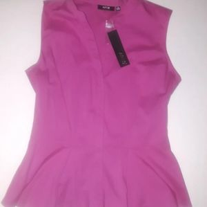 Apt 9 Small Fuchsia Sleeveless Blouse